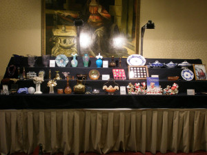 august 2015 carnival glass display