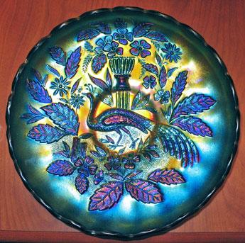 peacock carnival glass
